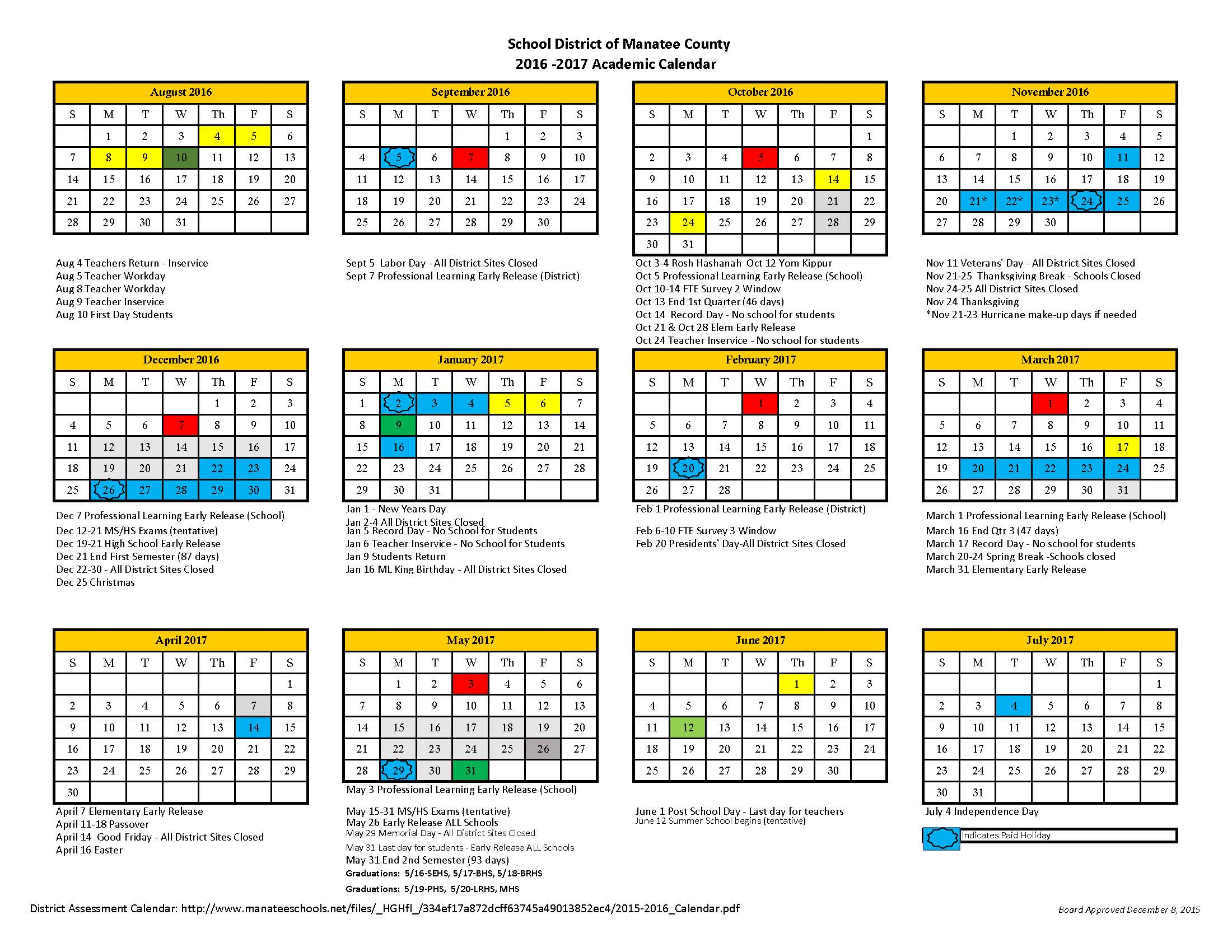 CALENDAR YEAR 2017 LEGAL HOLIDAYS AND - Mass.Gov