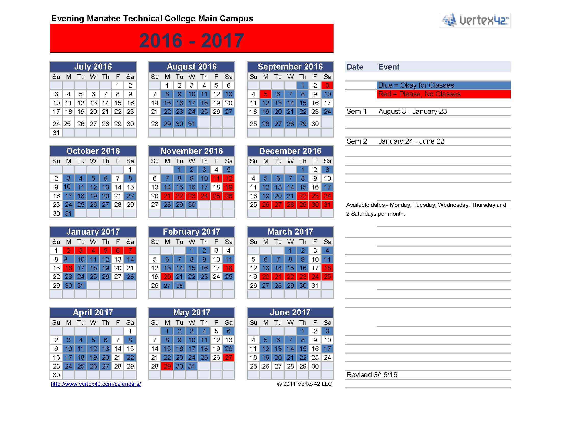 Palm Beach County School Board Calendar Printable
