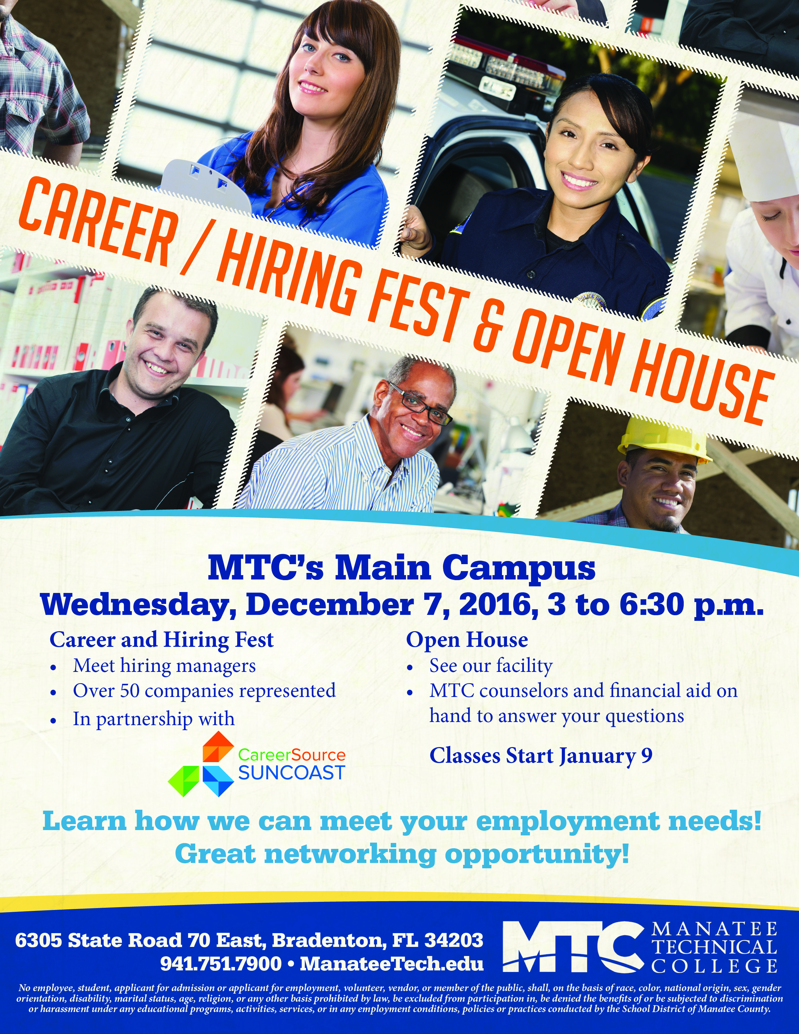 Career/Hiring Fest & Open House - Manatee Technical College