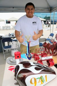 MTC auto refinishing student Abel Nava made a few of the trophies