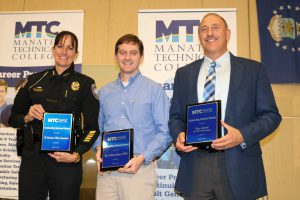 MTC 2017 Outstanding Business Partners Chief Melanie Bevan Dr Rob Hynton & Brion Sunseri