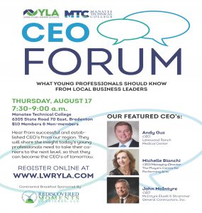 CEO Forum: What Young Professionals Should Know from Local Business Leaders. @ Main Campus | Bradenton | Florida | United States